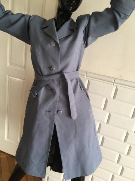 Vintage 70s pigeon blue coat 38