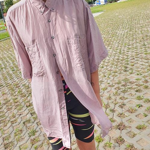 Vintage lilac color silk shirt L