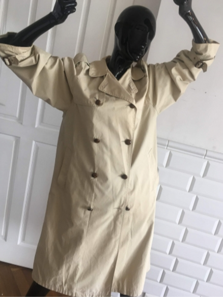 Vintage sand cotton trench-coat  38/40