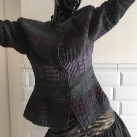 Vintage gray wool blazer 40