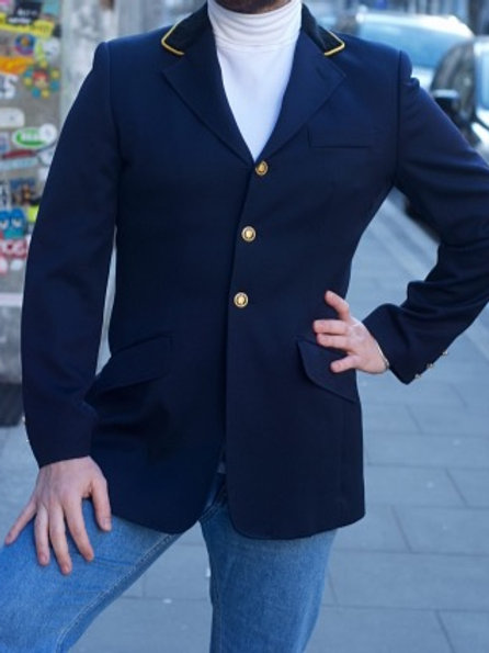 Vintage navy blue wool military blazer M/L