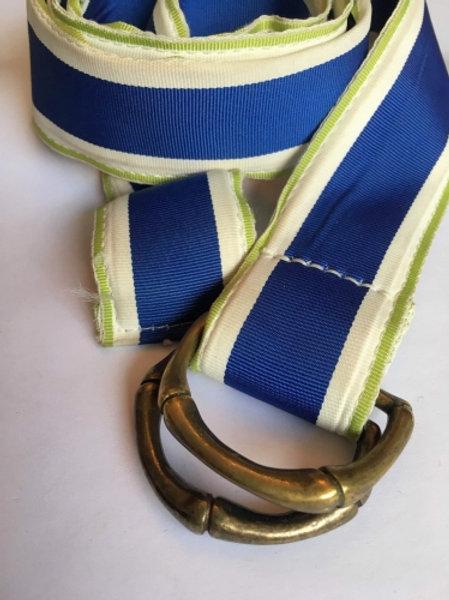Vintage tricolor canvas belt 110