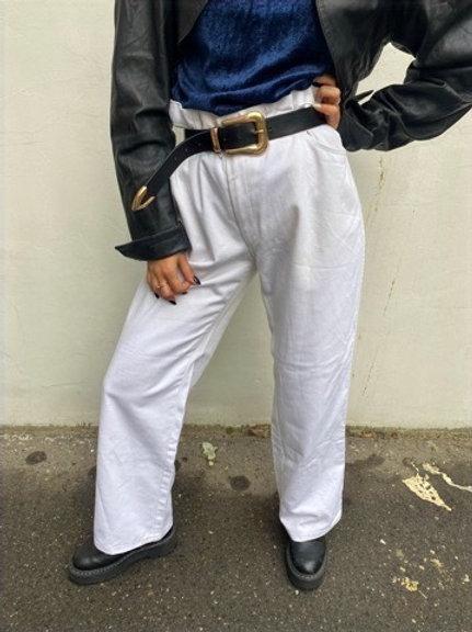 Vintage white oversize jeans