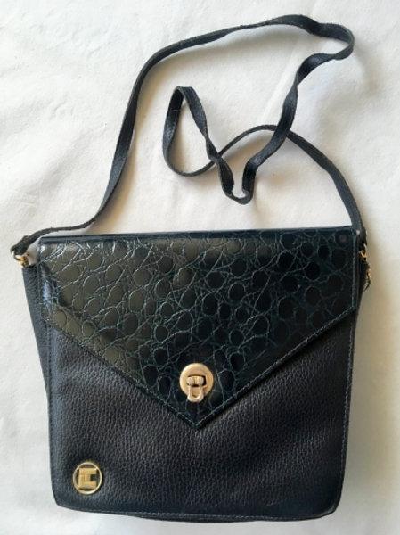 Vintage black & dark green bag