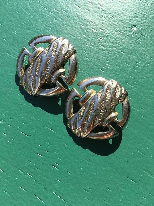 Vintage silvery clip on earrings