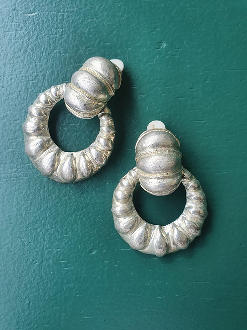 Vintage silver clip on earrings