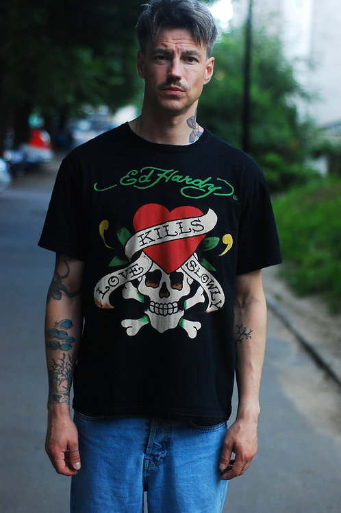 Vintage black t-shirt Ed Hardy L