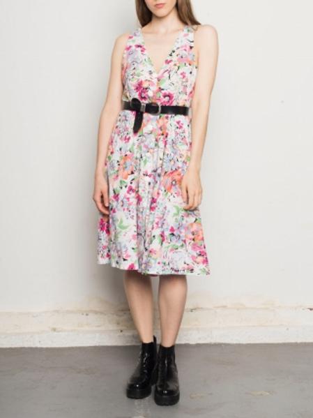 Vintage flowery hand made dress 40