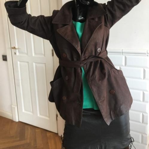 Vintage very soft brown suede jacket 40