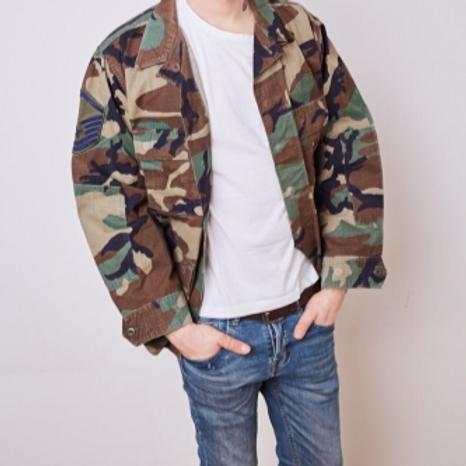 Mili Woodland Camouflage jacket L