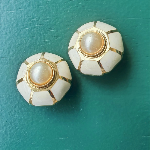 Vintage clip ons with pearls