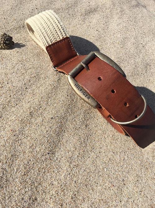 Vintage Hilfiger webbing & leather belt