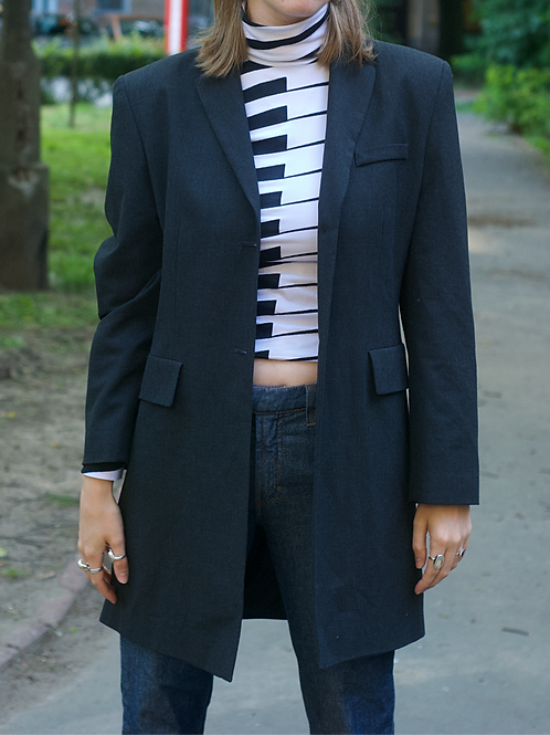 Vintage long  gray blazer 40