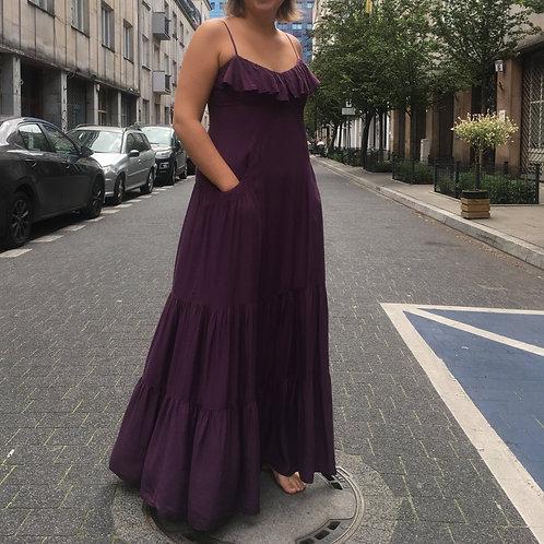 Vintage purple long boho dress