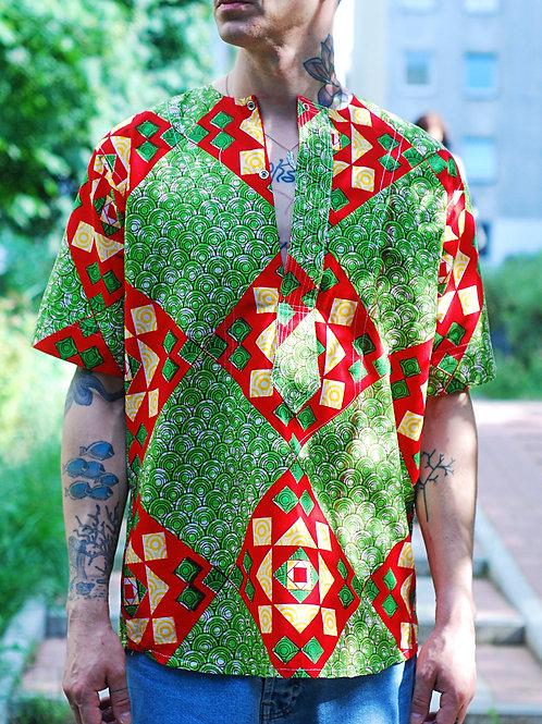 Vintage african print shirt