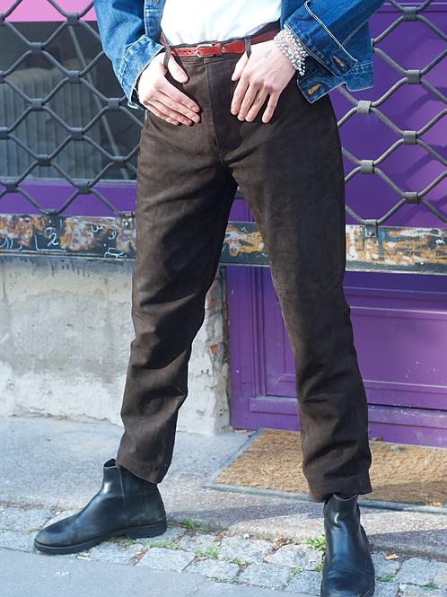 Vintage suede super soft pants in brown 32