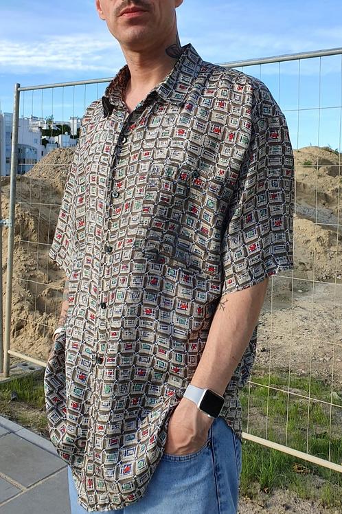 Vintage silk shirt L/XL