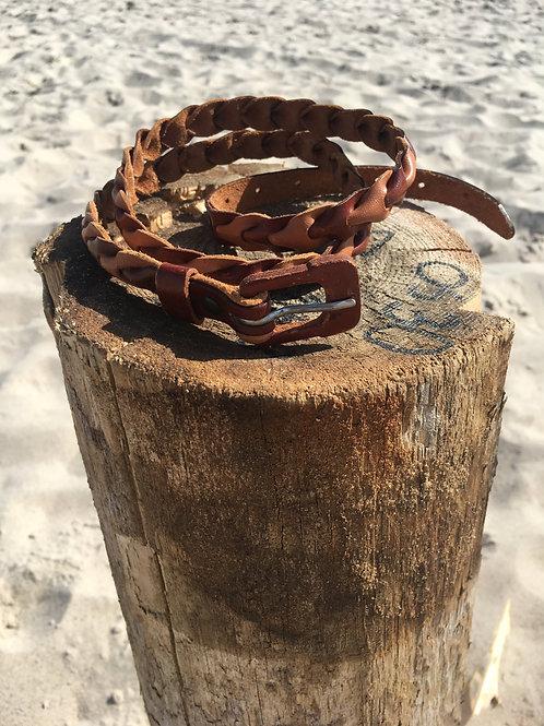 Vintage beautiful braided leather belt