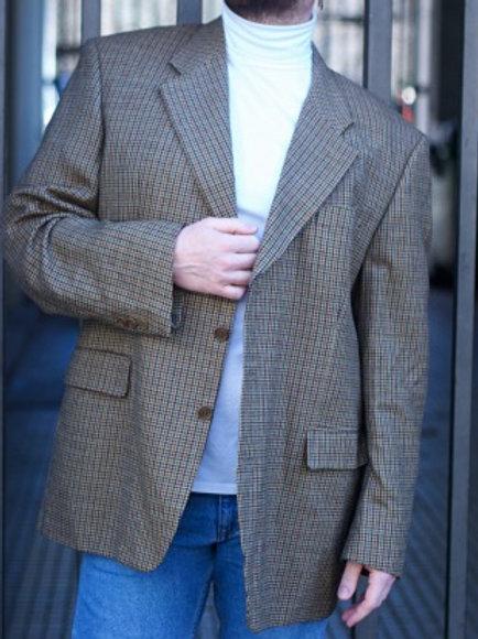 Vintage plaid wool blazer XL