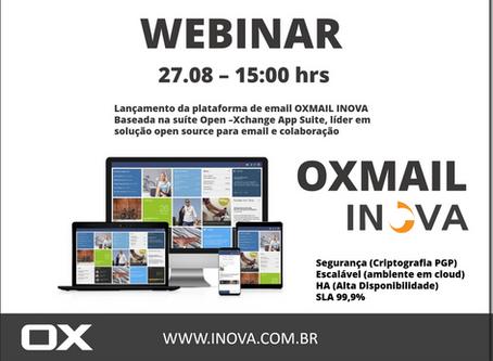 Participe do Webinar sobre o OXMAIL Inova - 27.08 - 15:00hrs