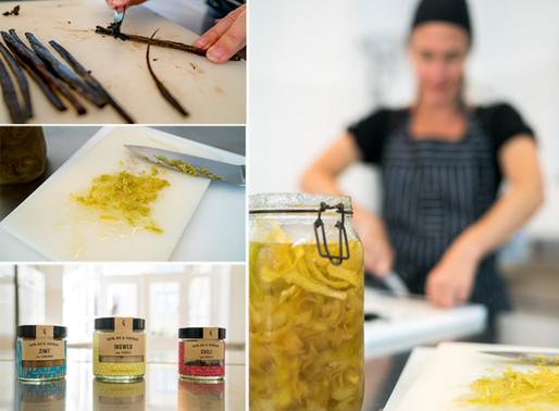 Vanille mit sizilianischer Zitronenschale