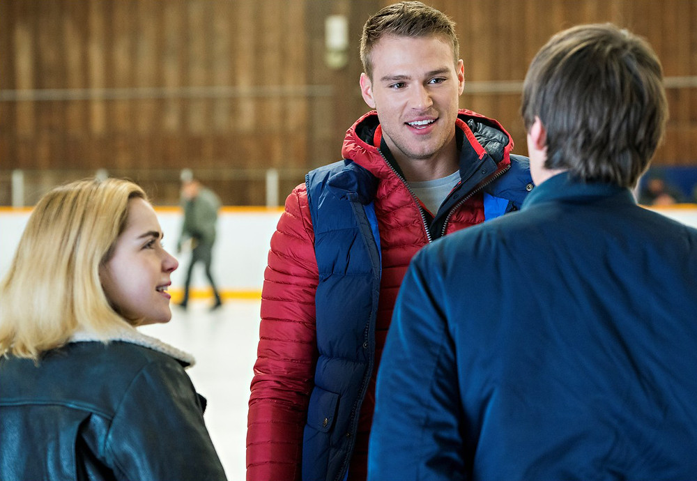 Matthew Noszka in Let It Snow with Mitchell Hope - Mike Batie for Hollywood Ancestry