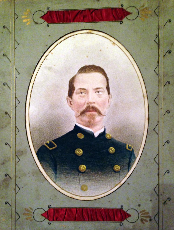 Braeden Lemasters' ancestor colorized portrait civil war | Hollywood Ancestry by Mike Batie