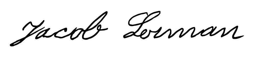 Signature of Logan Lerman's ancestor, Jacob Lerman. Hollywood Ancestry / Mike Batie