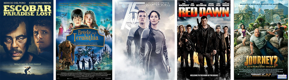 Josh Hutcherson filmography - movie posters