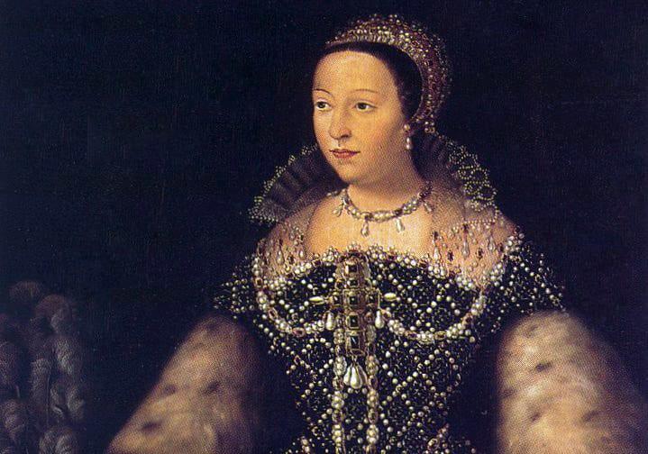 Catherine d'Medici helped Dylan Minnette's ancestor escape France.