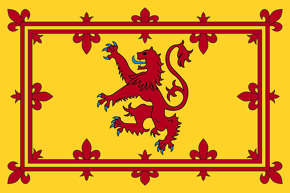 Royal Banner of Scotland, with the lion rampant emblazoned on it. William Moseley | Mike Batie