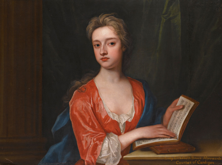 Elizabeth Bruce, Countess of Cardigan, born in 1689, is the 7th great grandmother of Eugene Simon.