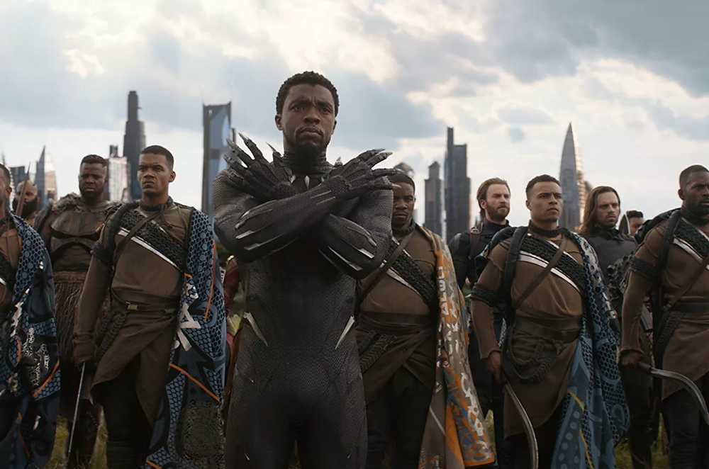 Chadwick Boseman as Black Panther in Avengers.