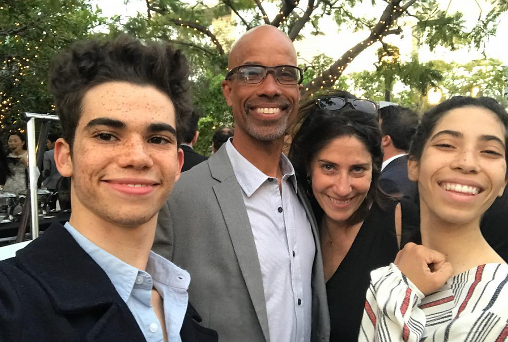 Cameron Boyce with his family.