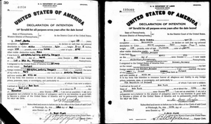 Matthew Noszka ancestors naturalization records | Hollywood Ancestry by Mike Batie