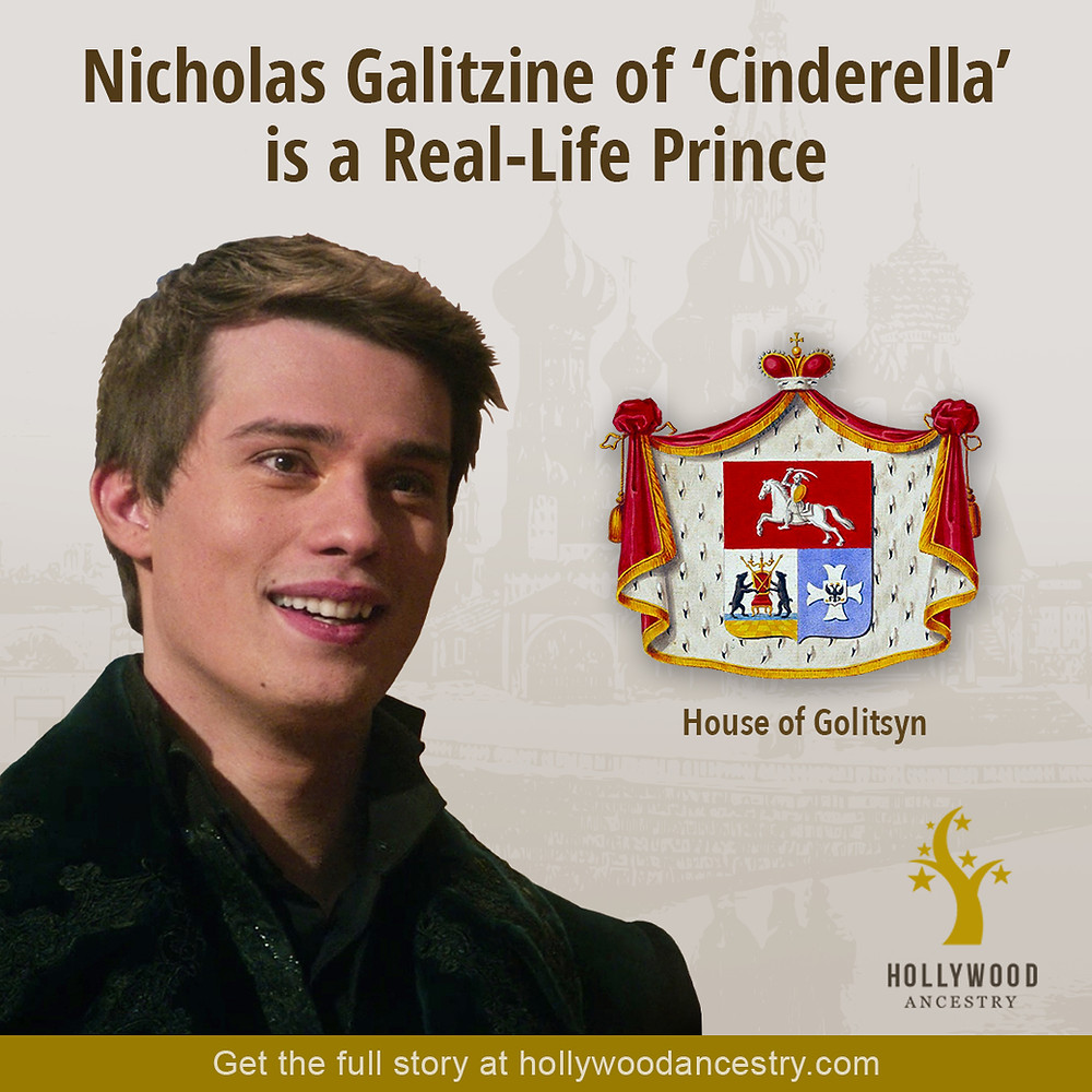Nicholas Galiztine with his family coat of arms - Hollywood Ancestry by Mike Batie - Pinterest