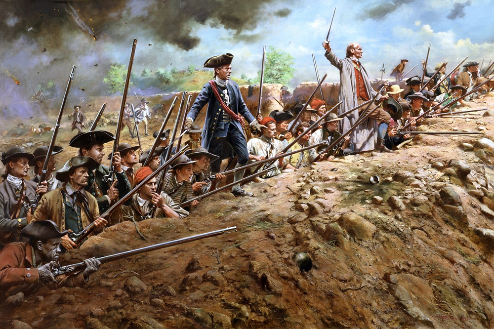 Josh Hutcherson's ancestor—and the author's ancestors—fought together at the Battle of Bunker Hill.