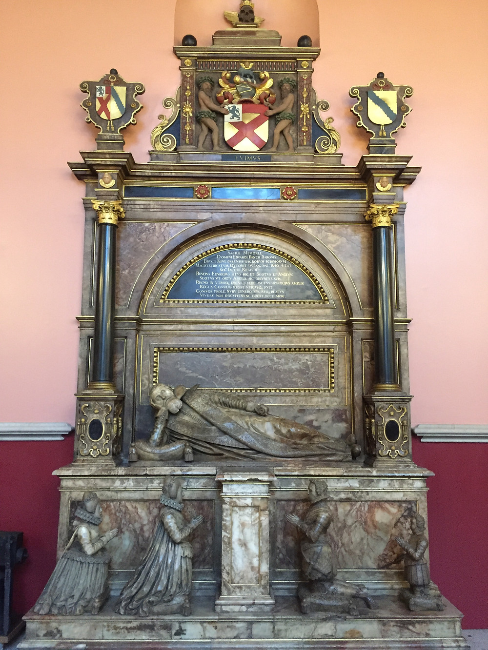 Edward Bruce's blinged out tomb at King's College London.