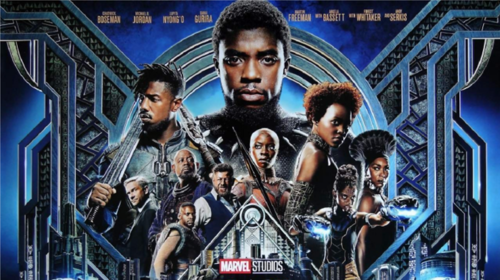 Movie poster of Black Panther featuring Chadwick Boseman.
