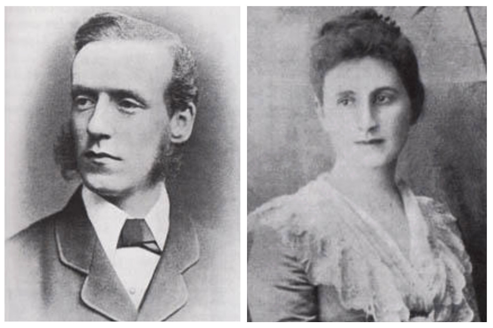 The great grandparents of Helena Bonham Carter, H.H. Asquith and Helen Melland.