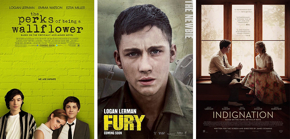 Logan Lerman filmography movie posters. Hollywood Ancestry / Mike Batie