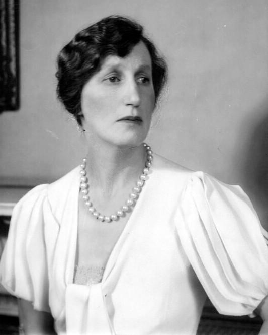 Portrait of Lady Violet Bonham Carter, grandmother of Helena Bonham Carter.
