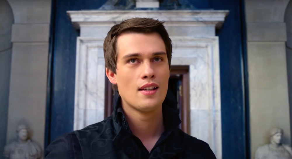 Nicholas Galitzine in the palace in Amazon Prime's Cinderella film - Hollywood Ancestry by Mike Batie.