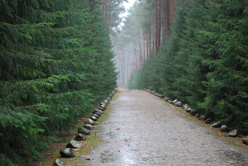 """Hartog & Hester Gosselaar were led along this path, called """"the road to heaven"""" by the Nazis, to the gas chamber."""