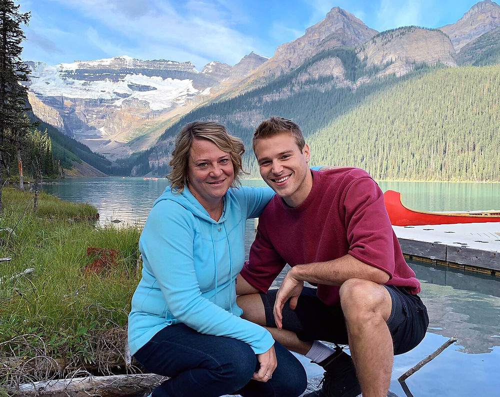 Matthew Noszka with his mother - Hollywood Ancestry by Mike Batie