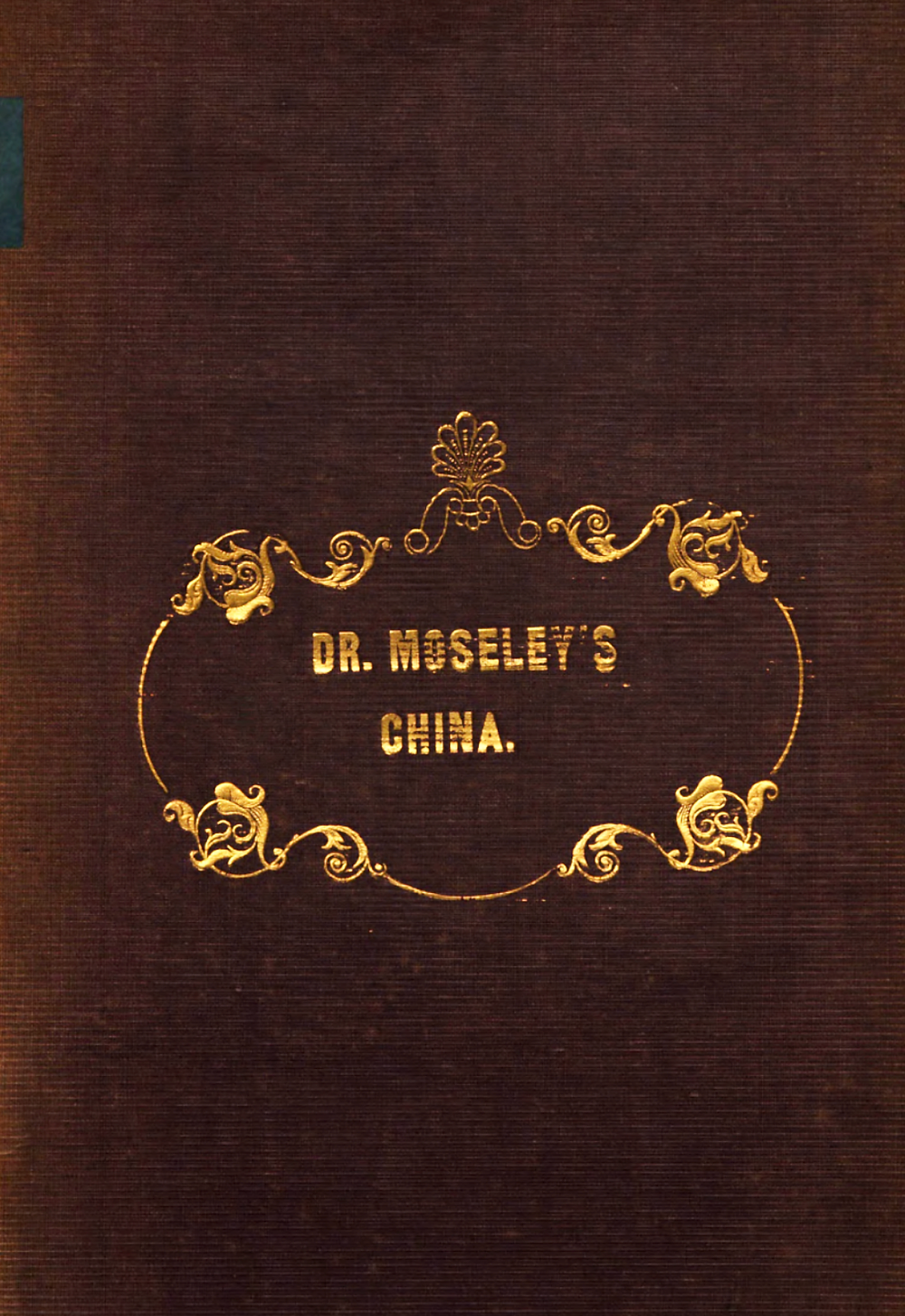 Cover of Rev. Dr. William Willis Moseley's book.