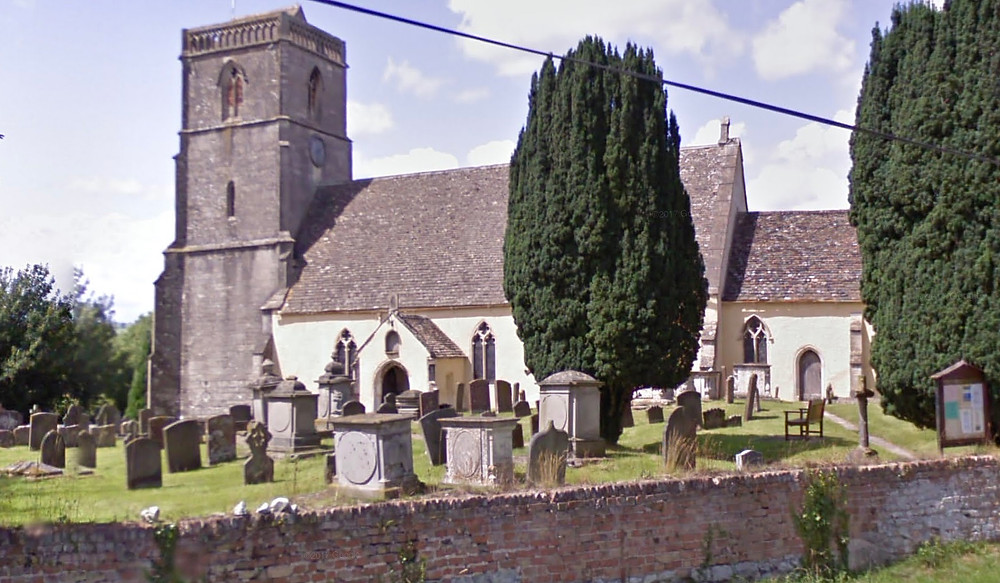 Parish church in Arlingham where William Moseley's great grandparents were married.