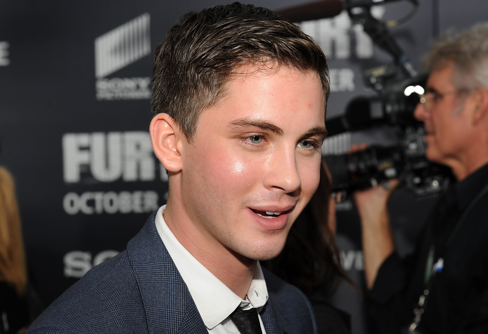 Logan Lerman on the red carpet at movie premiere - Hollywood Ancestry by Mike Batie