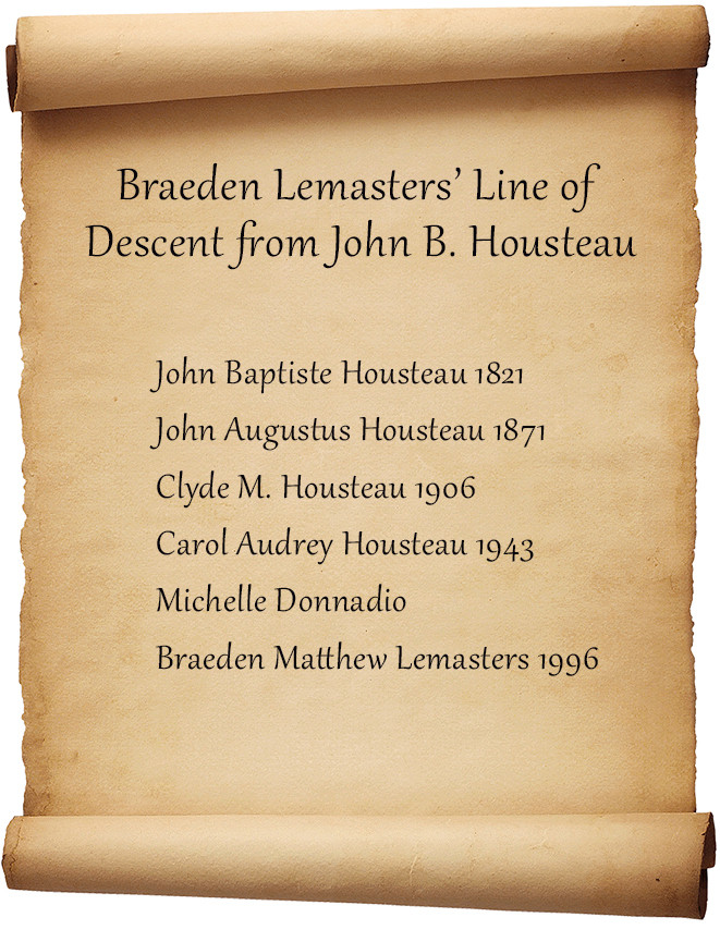 Braeden Lemasters ancestor chart Hollywood ancestry by Mike Batie