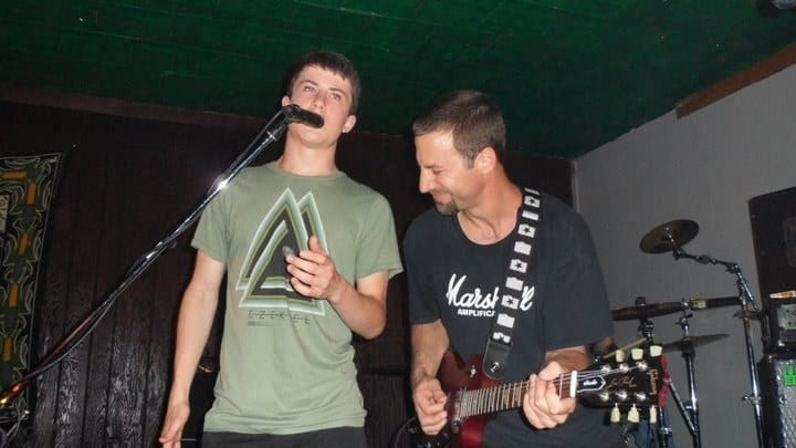 Dylan Minnette, actor and musician, sings with dad.